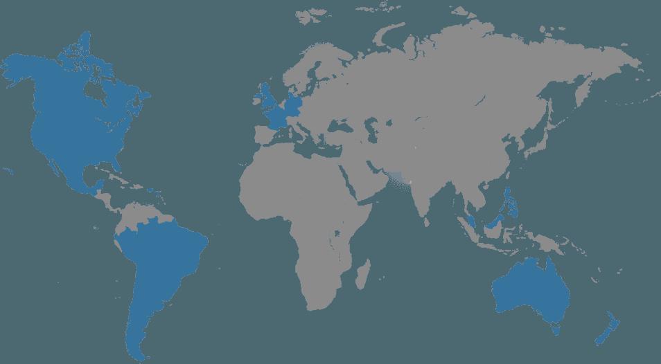 Experiencia en la industria y alcance mundial de servicios